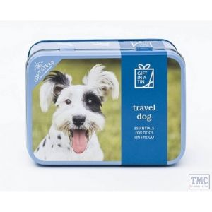 Emergency Dog Travel Kit in a Tin Nappy Sacks Dog Lead Portable Water Bowl