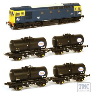 1099 Heljan OO Gauge Class 33/0 Class 33/0 6584 in blue livery with full yellow ends with 4 x ESSO B-tanks 3375, 3376, 3377 & 3378 each with ESSO logo but no branding