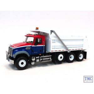 10-3994 First Gear 1:34 SCALE Mack Granite Dump Truck Red White & Blue