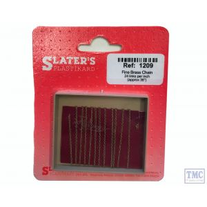 "1209 Slaters Fine Brass Chain 24 links per inch (36"" per packet)"