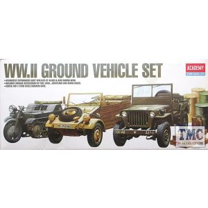 Academy 1/72 WW2 Ground Vehicle Set Kit No 1310 (Pre owned)
