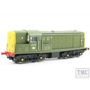 1513 Heljan OO Gauge Class 15 ADB968003 (Carriage pre-heat unit) in Sherwood green with full yellow ends