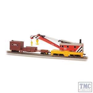 16104 Bachmann OO/HO Scale 250-Ton Steam Crane & Boom Tender - Canadian National