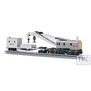 16138 Bachmann OO/HO Scale 250-Ton Steam Crane & Boom Tender - Maintenance Of Way (Grey)