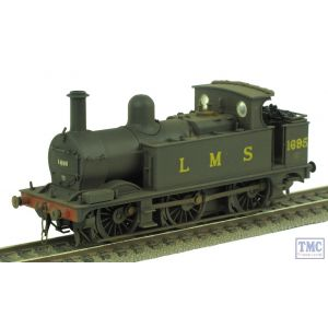 Bachmann OO Midland Class 1F 1695 LMS Black Parts Fitted Real Coal Renumbered & Weathered by TMC