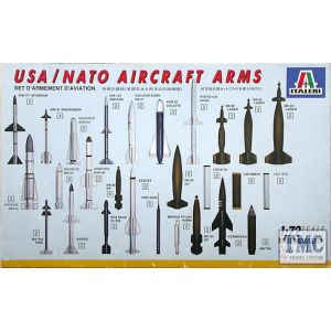 177 Italeri 1:72 USA/NATO Aircraft Arms Model Kit (Pre owned) (One Missing)