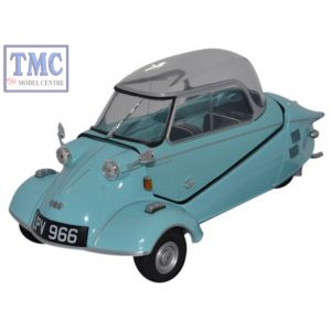 18MBC004 Oxford Diecast 1:18 Scale Messerschmitt KR200 Bubble Top Light Blue Messerschmitt Bubble Car