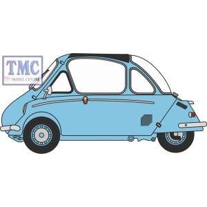 18HE001 Oxford Diecast 1:18 Scale Heinkel Trojan RHD Roman Blue