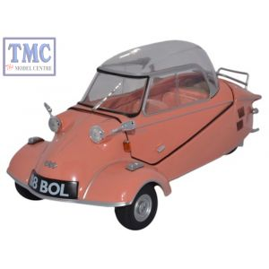 18MBC003 Oxford Diecast 1:18 Scale Messerschmitt KR200 Bubble Top Rose Messerschmitt Bubble Car