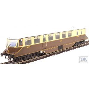 1900 Heljan O Gauge AEC 'Razor Edge' Railcar GWR chocolate/cream with monogram (white roof)
