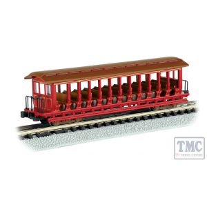 19399 Bachmann N Gauge (US Outline) Jackson Sharp Open-Sided Excursion Car Red & Brown