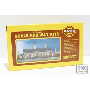 204 Ratio Station Building N Gauge Plastic Kit