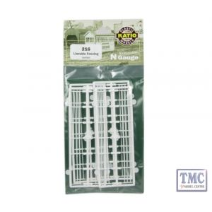 216 Ratio Lineside Fencing White N Gauge Plastic Kit
