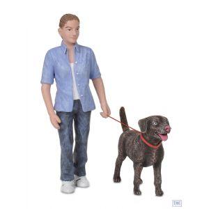 22-180 Scenecraft G Scale Lineside Models Dog Walker