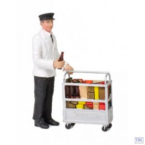 22-185 Scenecraft G Scale Lineside Models Service Person with Minibar
