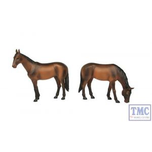 22-201 Scenecraft G Scale Horses Standing and Grazing