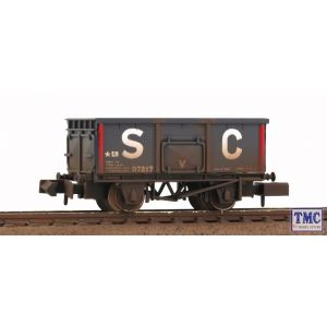 2211 Graham Farish N Gauge Steel Mineral Wagon 'SC' (Stephenson Clarke) Weathered By TMC