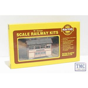223 Ratio GWR Wooden Signal Box (inc. interior) N Gauge Plastic Kit