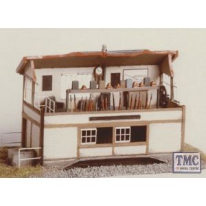 224 Ratio Signal Box Interior (inc. Window frames) Etched Brass N Gauge Plastic Kit