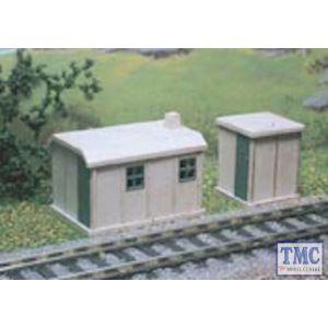 238 Ratio N Gauge 2 Concrete Huts Plastic Kit
