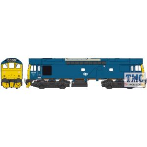 2536 Heljan OO Gauge Class 25/3 BR rail blue 25155 (WR) with full yellow ends (single, central double arrows) Factory Weathered