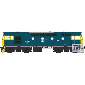 2716 Heljan OO Gauge Class 27 27030 BR blue with full yellow ends (lightly weathered)