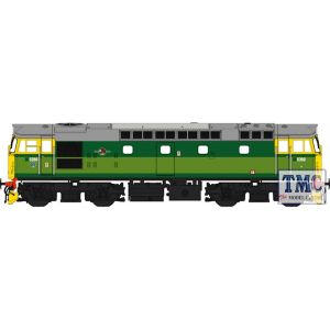 2719 Heljan OO Gauge Class 27 5380 BR 2-tone green with full yellow ends (lightly weathered)