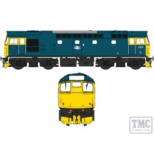 2732 Heljan OO Gauge Class 27 5357 BR blue with full yellow ends (V3)