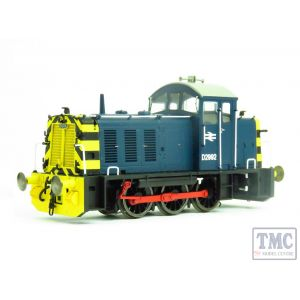 2902 Heljan OO Gauge Class 07 V1 D2992 in BR blue with 'wasp' stripes
