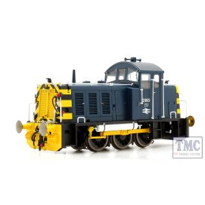 2910 Heljan OO Gauge Class 07 V2 2993 in BR blue with 'wasp' stripes