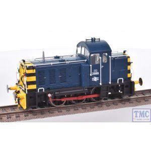 2914 Heljan OO Gauge Class 07 V2 Later BR & industrial dual-braked variant BR blue 2989