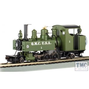 29504 Bachmann On30 Scale Quartermaster Corps #1 2-6-2T Baldwin Class 10 Trench Engine DCC Sound Fitted