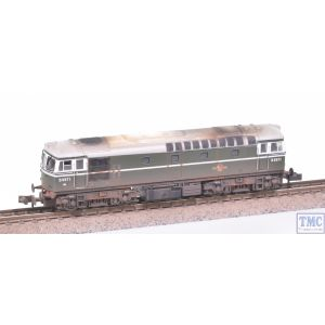 2D-001-001 Dapol N Gauge Class 33/0 D6571 BR Green NYP with Extra Detail Weathering by TMC