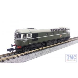 2D-001-001 Dapol N Scale Class 33 D6571 BR Green No Warning Panel