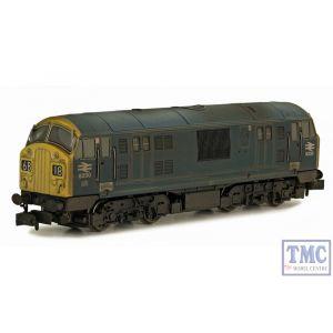 2D-012-012 Dapol N Gauge BR Class 22 6330 Blue FYE Font B Wthrd