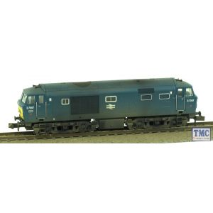 2D-018-009 Dapol N Gauge Hymek D7007 BR Blue Small Yellow Panel Double Arrow Logo Weathered by TMC