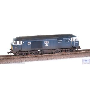 2D-018-010 Dapol N Gauge Hymek D7036 BR Blue Small Yellow Panel Double Arrow Logo Weathered by TMC