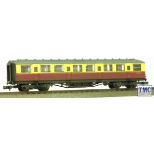2P-011-151 Dapol N Gauge Gresley Carmine & Cream First Class E11032E Weathered By TMC