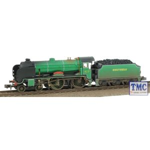 2S-002-003 Dapol N Gauge Schools Class 929 'Malvern' Malachite Green Real Coal Weathered by TMC