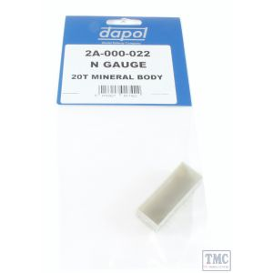 2A-000-022 Dapol N Gauge 20t Steel Mineral Wagon Unpainted Body