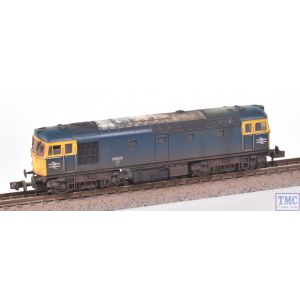 2D-001-000 Dapol N Gauge Class 33/0 33030 BR Blue with Deluxe Weathering by TMC