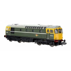 2D-001-008D Dapol N Gauge Class 33/0 D6561 BR Green Full Yellow Front (DCC-Fitted)