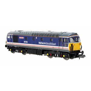 2D-001-022D Dapol N Gauge Class 33/1 33114 Ashford 150 Network SouthEast(DCC-Fitted)