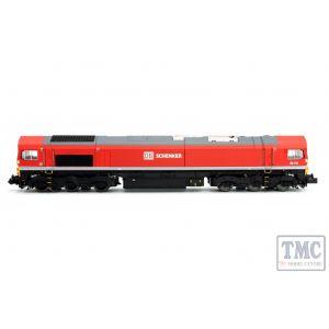 2D-007-008D Dapol N Gauge Class 66 66114 DB Schenker Red DCC