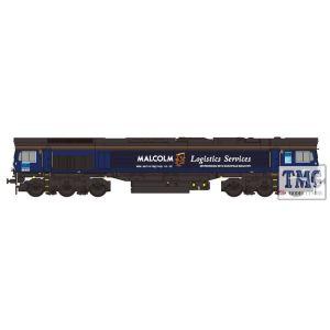 2D-007-015 Dapol N Gauge Class 66 405 DRS Malcom Logistics