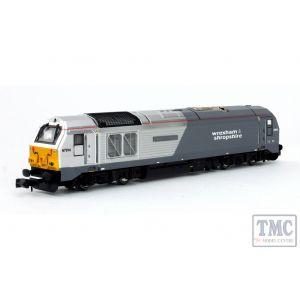 2D-010-004 Dapol N Gauge Class 67 A Thomas Telford 67014 Wrexham & ShropshreSilver