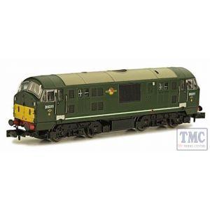 2D-012-008 Dapol N Gauge Class 22 D6311 BR Green SYP Disc Headcode