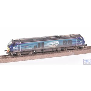 2D-022-007 Dapol N Gauge Class 68 Evolution 68001 DRS Weathered by TMC