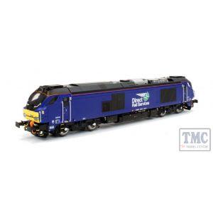 2D-022-010 Dapol N Gauge Class 68 026 DRS Plain Blue
