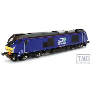 2D-022-010D Dapol N Gauge Class 68 026 DRS Plain Blue (DCC-Fitted)